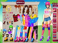 Barbie On Rollers Juego Online En Juegosjuegos