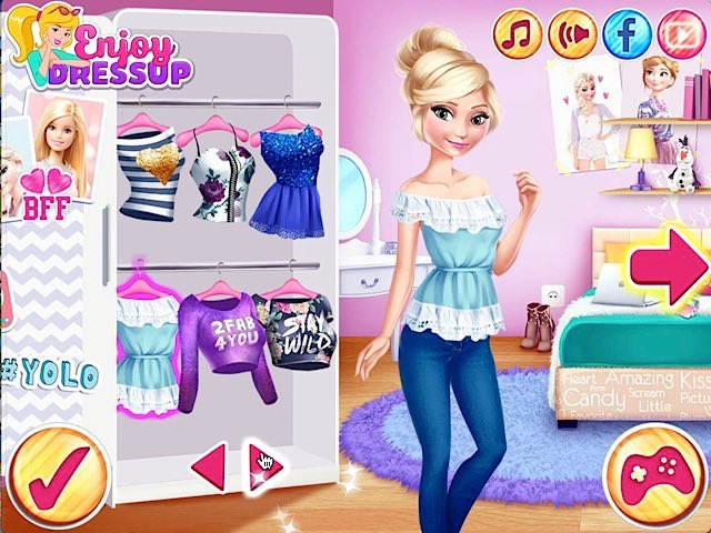 Elsa And Barbie Blind Date - Play The Girl Game Online
