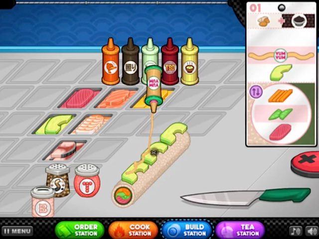 Papa s sushiria gratis en juegosjuegos com ar