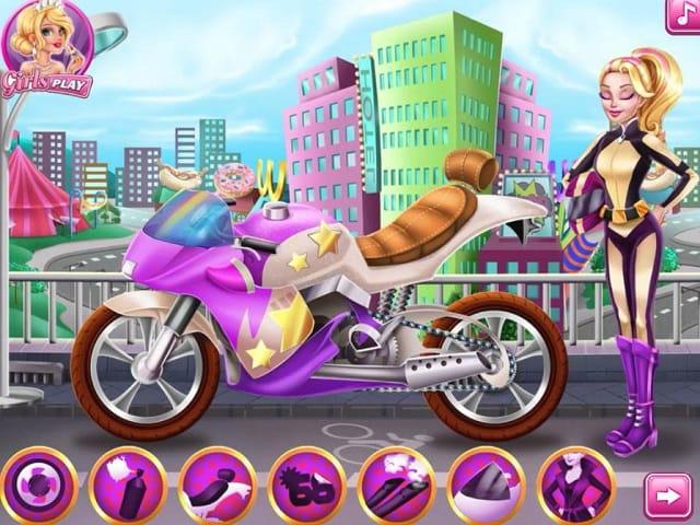 girls fix it barbie spy motorcycle