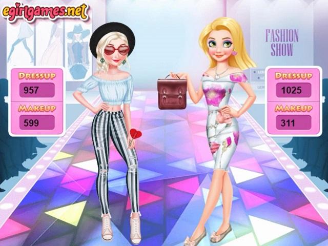 ELSA VS RAPUNZEL FASHION GAME (juego online