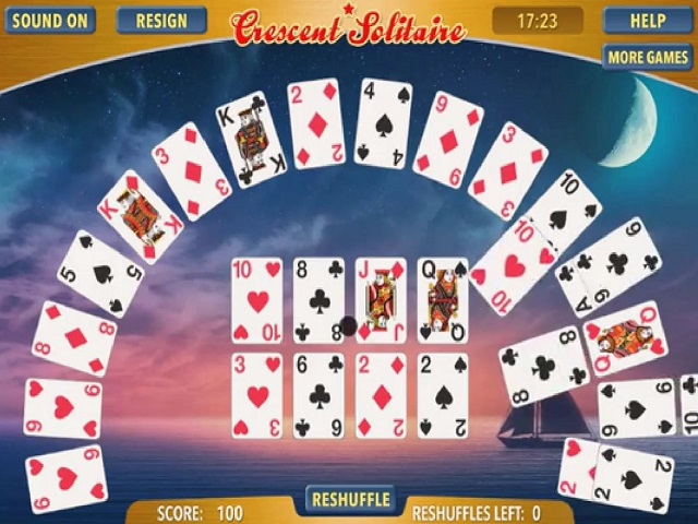 CRESCENT SOLITAIRE juego online en JuegosJuegos.com